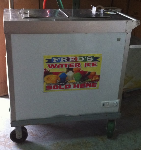 Water Ice Cart - get one at Fred's Water Ice